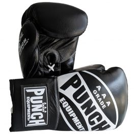 Boxing Gloves 16 Oz Lace Ups Black1