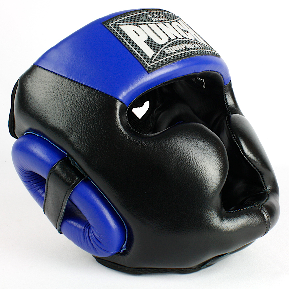 Trophy Getters Full Face Boxing Headgear Electric Blue 1