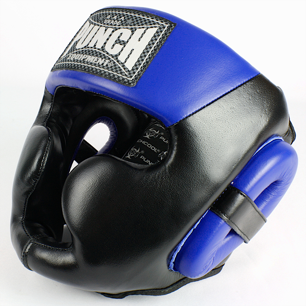 Trophy Getters Full Face Boxing Headgear Electric Blue 2