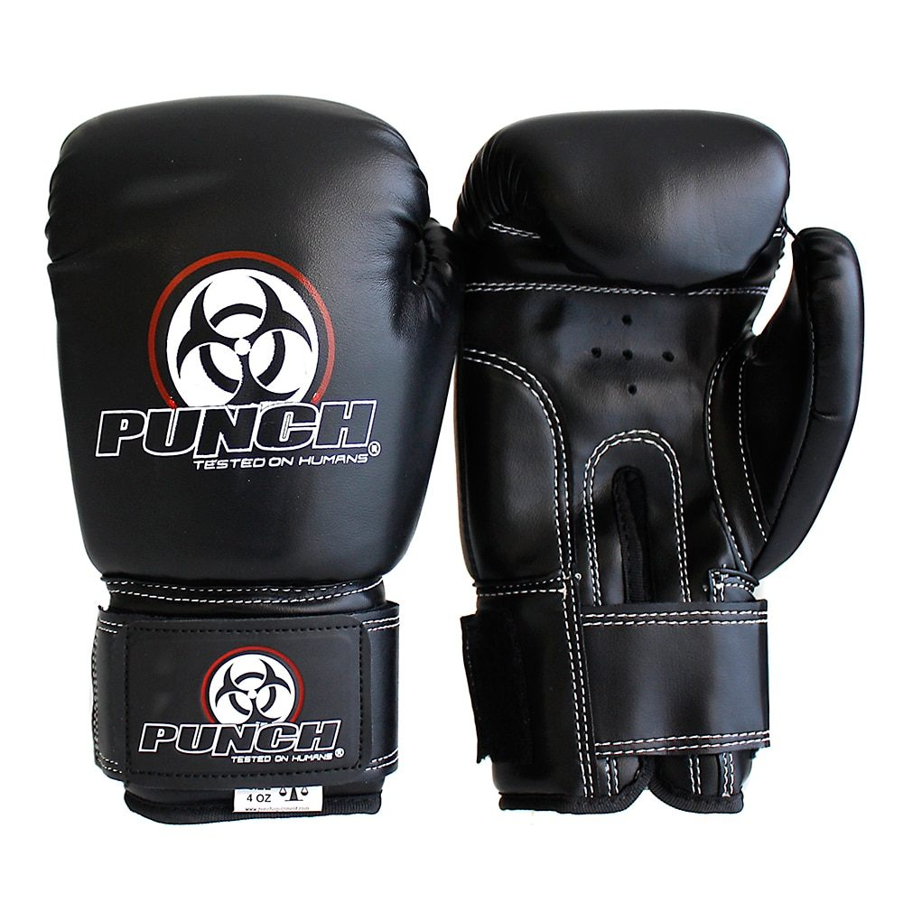 Punch Boxing Gloves Black 4oz