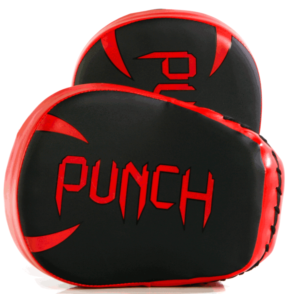 Target face of the Urban Cobra Boxing Pads in black and red