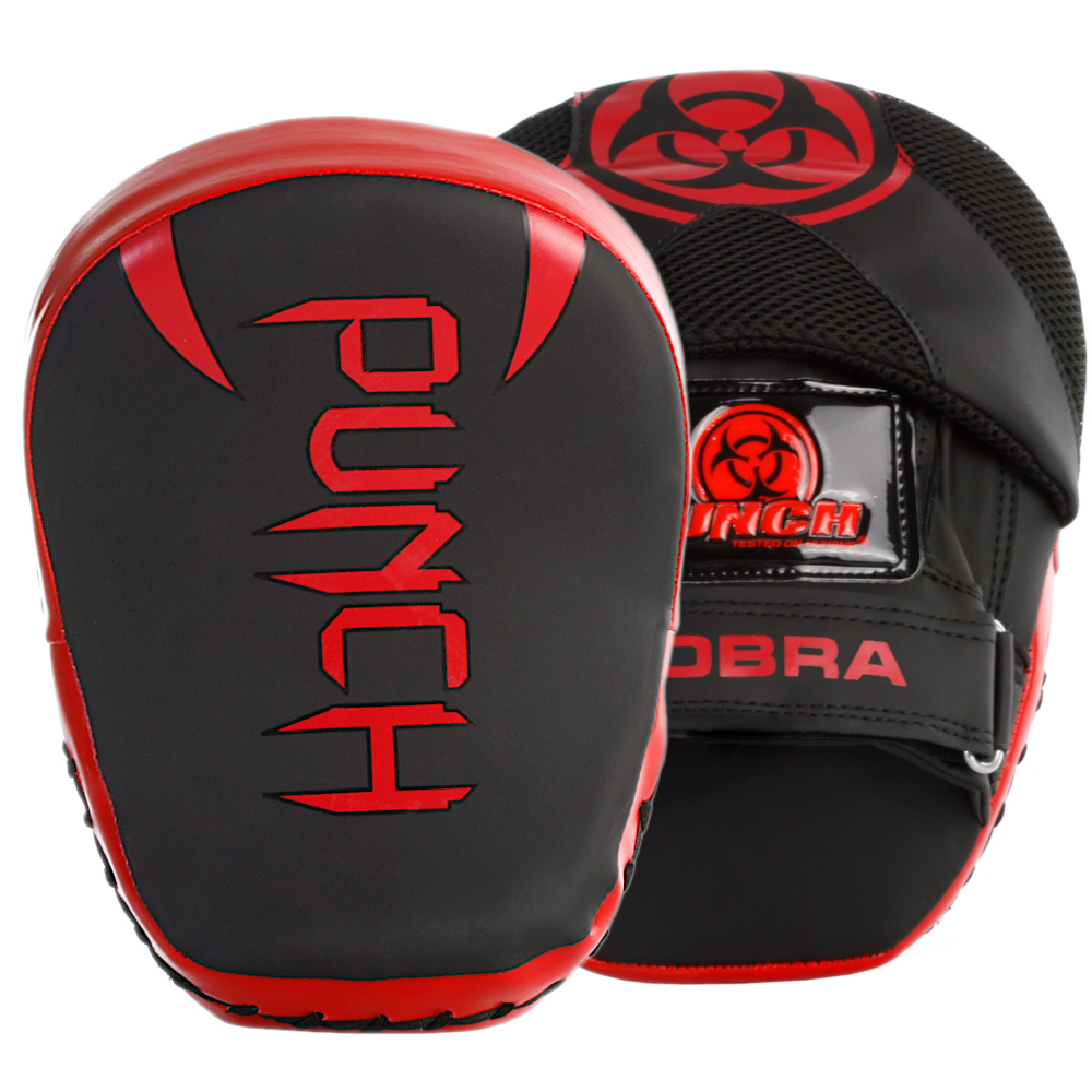Urban Cobra Boxing Pads in black and red