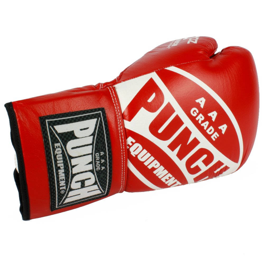 Red Lace Up Boxing Gloves 3