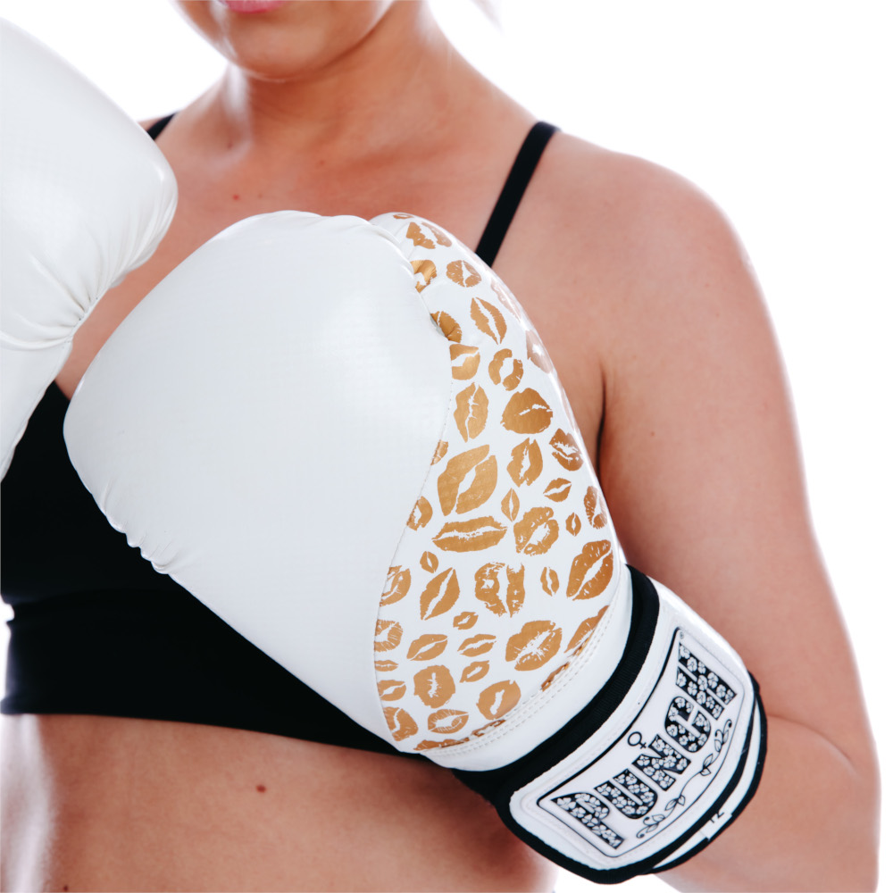 White Gold Ladies Boxing Gloves