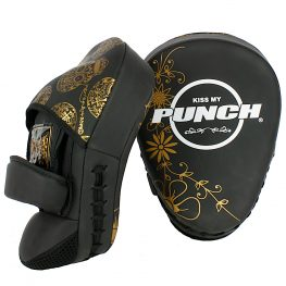 Womens Black Gold Focus Boxing Pads1