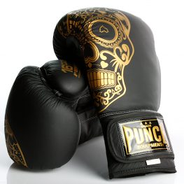 Gold Skull Matte Black Getters Boxing Glove 2020 2