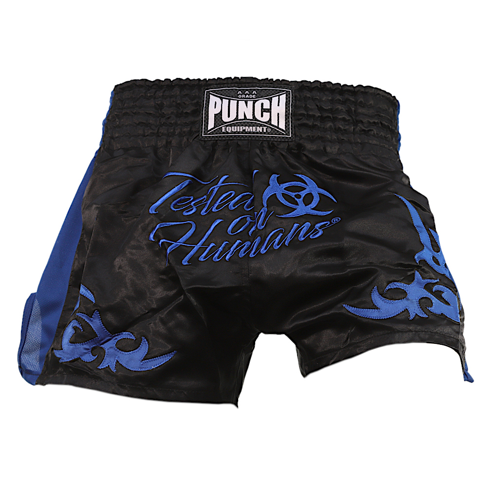 Blue Tested On Humans Muay Thai Shorts 4