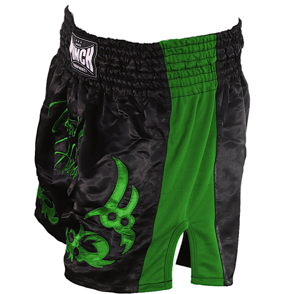 Green Tested On Humans Muay Thai Shorts 4