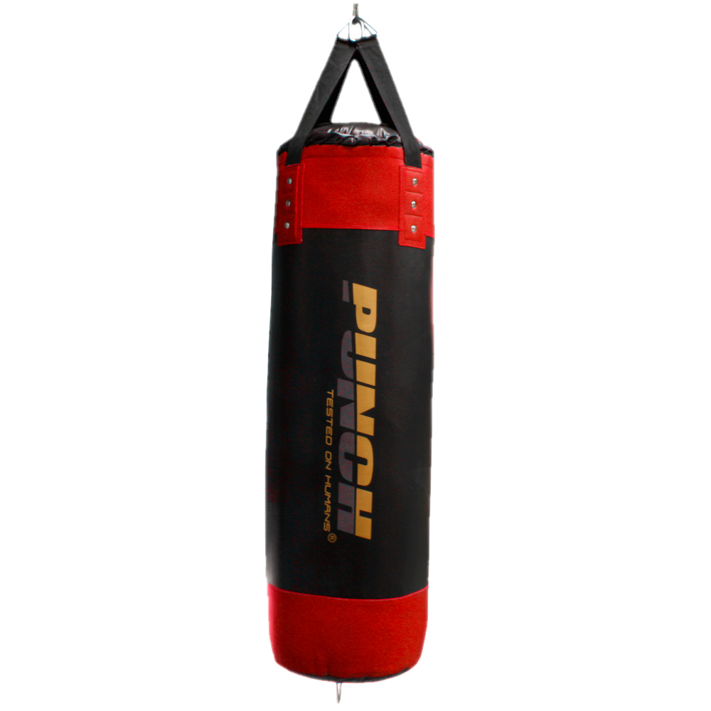 Hanging Urban 4ft Boxing Bag in black and red